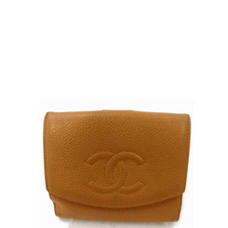 Chanel Wallet Light Brown Leather