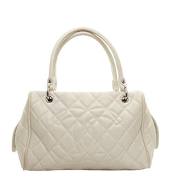 Pre-loved authentic Chanel Shoulder Bag White Leather sale at jebwa.