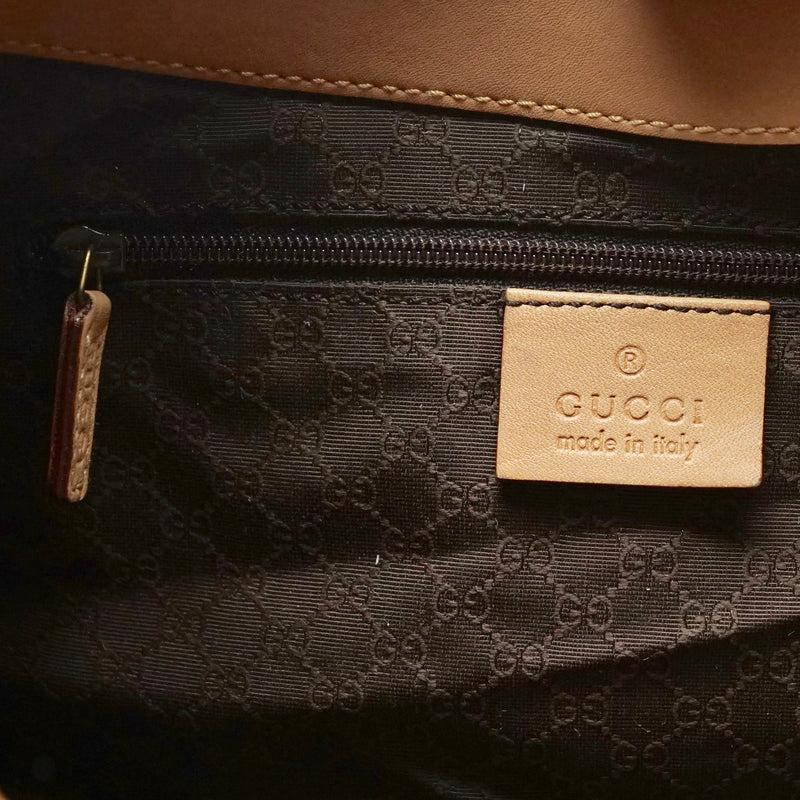 Gucci Light Brown Leather Hand Bag