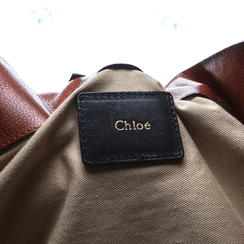 Pre-loved authentic Chloe Paraty Canvas Leather Tote sale at jebwa