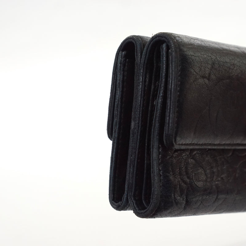 Pre-loved authentic Chanel Wallet Black Lamb Skin sale at jebwa.