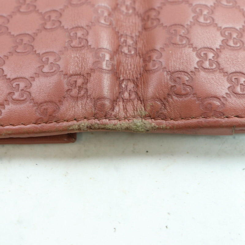 Pre-loved authentic Gucci Pink Leather Long Wallet sale at jebwa