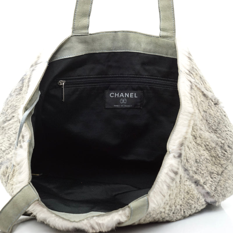 Pre-loved authentic Chanel Cc Mark Tote Bag Pouch Gray sale at jebwa