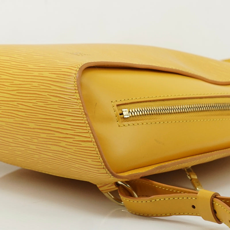 Pre-loved authentic Louis Vuitton Mabillon Yellow Back sale at jebwa