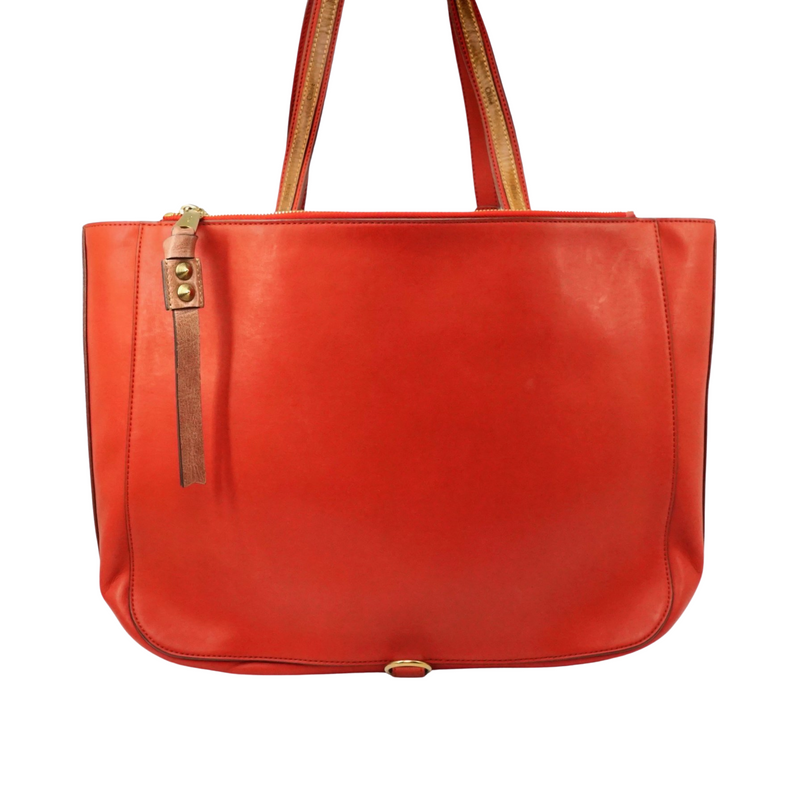 Chloe Sam Red Brown Leather
