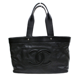 Chanel Tote Bag Coco Mark Black
