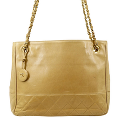 Chanel Shopping Tote Beige Leather