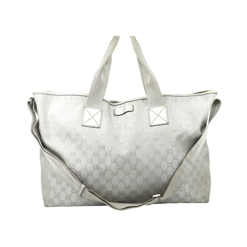 Gucci Gg Light Gray Large Jacquard