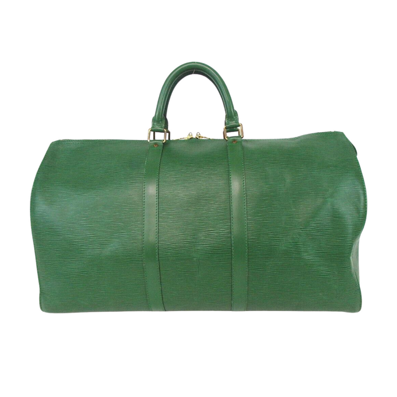 Pre-loved authentic Louis Vuitton Keepall 50 Epi Green sale at jebwa
