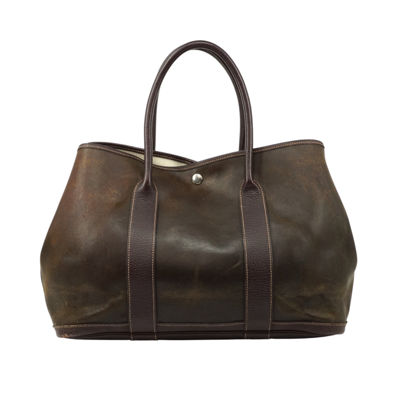 Hermes Garden Party Tote Bag Brown