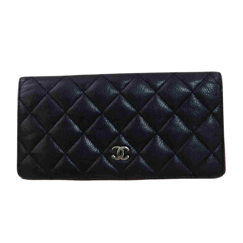 Chanel Matelasse Long Wallet Black
