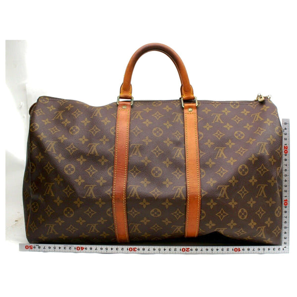 Pre-loved authentic Louis Vuitton Keepall 50 Travel sale at jebwa