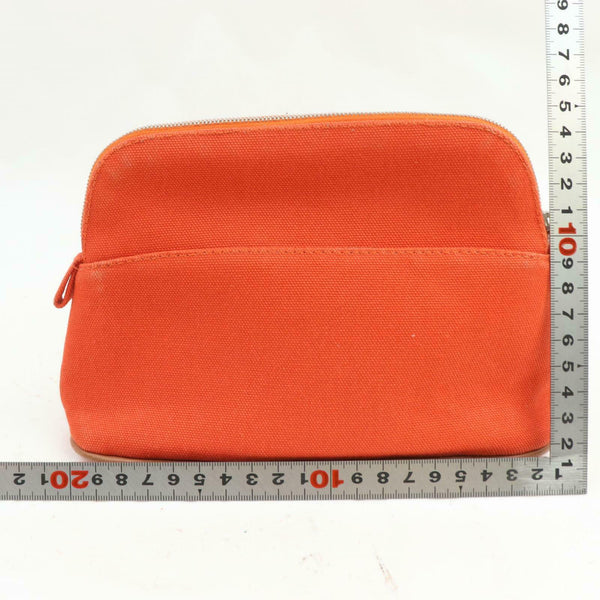 Pre-loved authentic Hermes Cosmetic Pouch Canvas Orange sale at jebwa