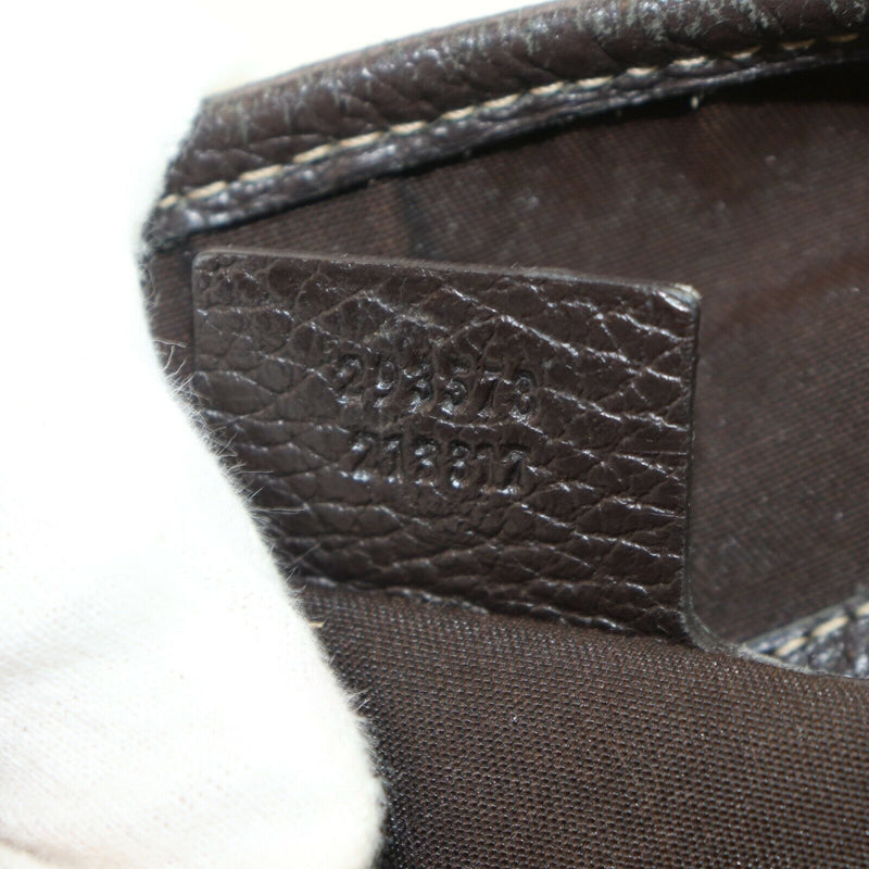Pre-loved authentic Gucci Abbey Coated Canvas Brown sale at jebwa