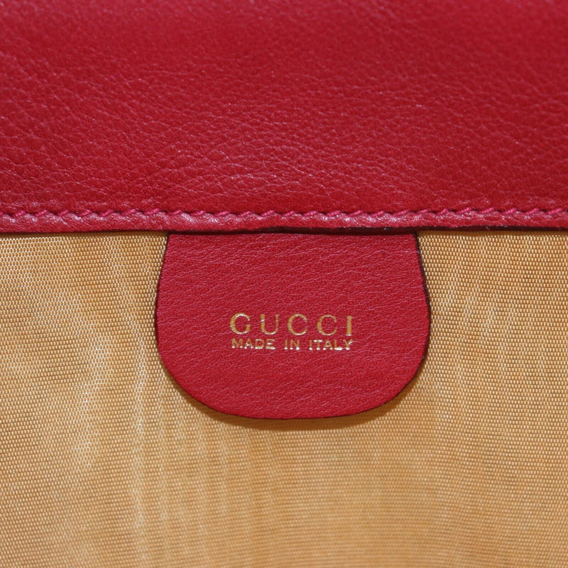 Pre-loved authentic Gucci Red Leather Travel Bag Rare sale at jebwa