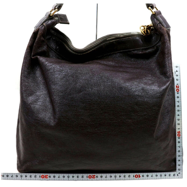 Pre-loved authentic Chloe Dark Brown Shoulder Bag sale at jebwa