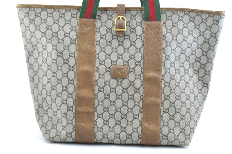 Pre-loved authentic Gucci Sherry Line Gg Tote Travel sale at jebwa