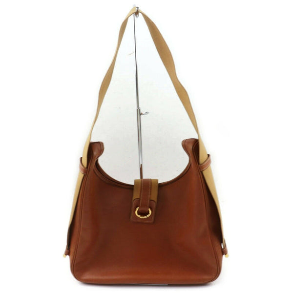 Pre-loved authentic Hermes Brown Leather Shoulder Bag sale at jebwa