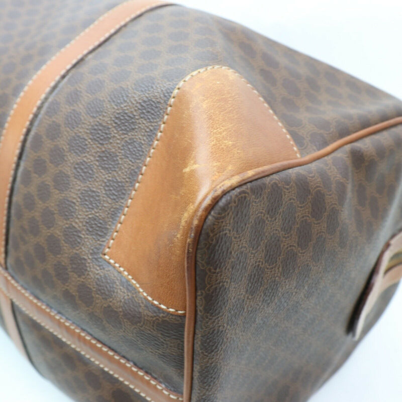 Pre-loved authentic Celine Macadam Boston Bag Brown sale at jebwa