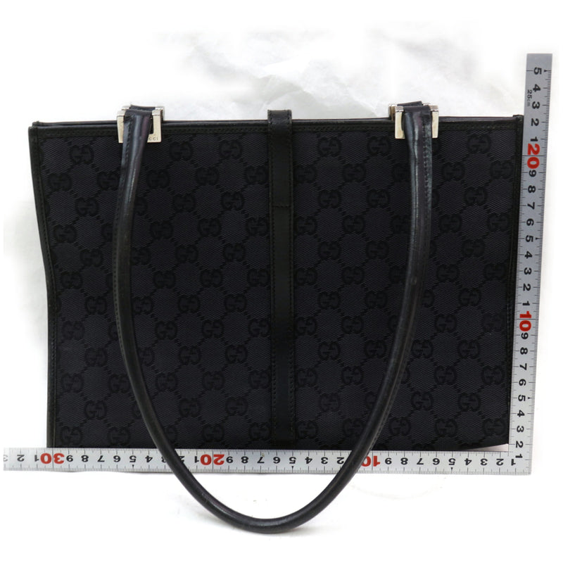 Pre-loved authentic Gucci Tote Bag Black Canvas sale at jebwa