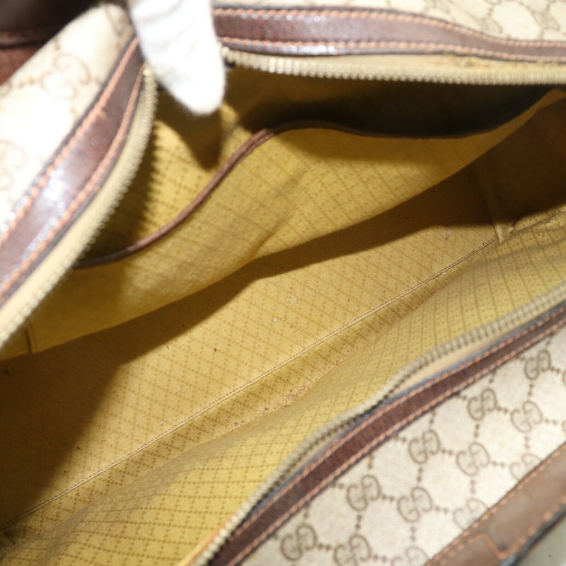 Pre-loved authentic Gucci Travel Bag Light Brown Pvc sale at jebwa