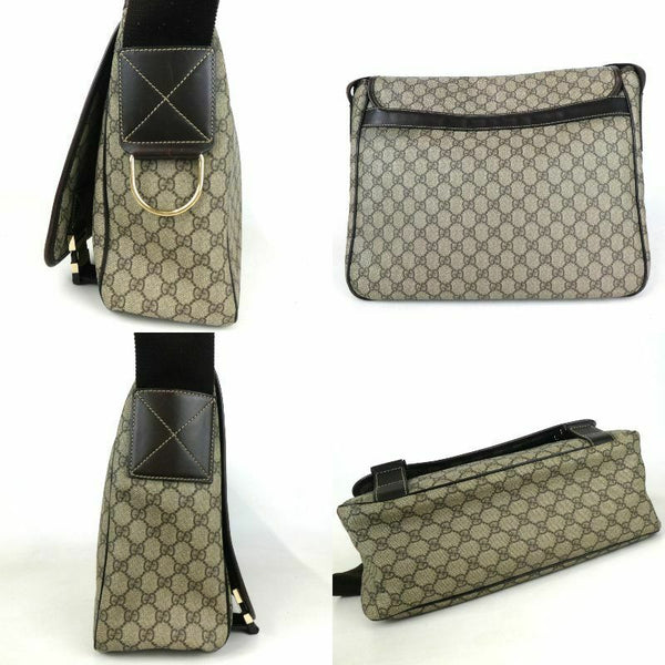 Pre-loved authentic Gucci Gg Crossbody Bag Brown Canvas sale at jebwa