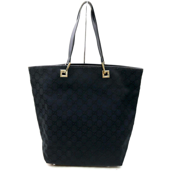 Pre-loved authentic Gucci Gg Tote Bag Black Canvas sale at jebwa