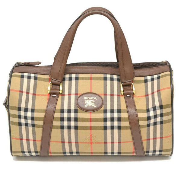Pre-loved authentic Burberry Plaid Boston Satchel Hand sale at jebwa