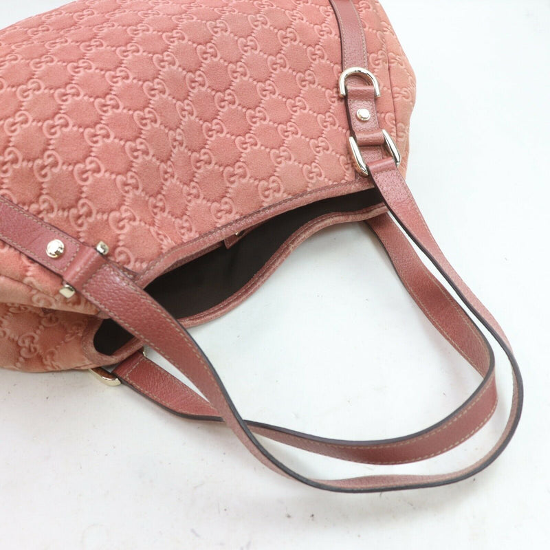 Pre-loved authentic Gucci Shoulder Bag Pink Suede sale at jebwa