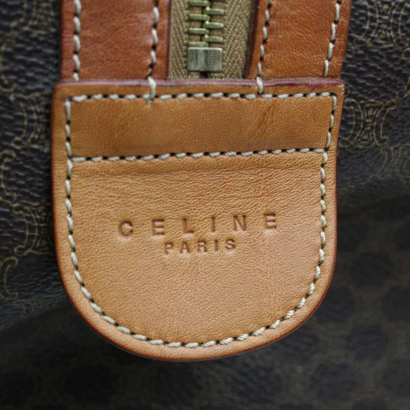 Pre-loved authentic Celine Travel Boston Bag Brown sale at jebwa