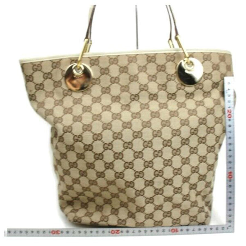 Pre-loved authentic Gucci Gg Tote Bag Beige Canvas sale at jebwa