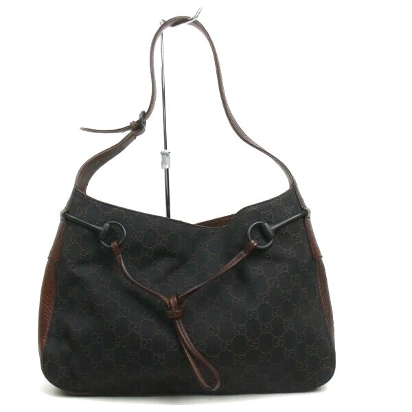 Pre-loved authentic Gucci Gg Shoulder Bag Brown Canvas sale at jebwa
