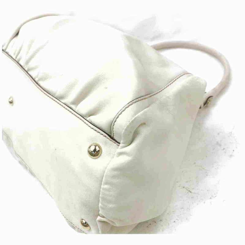 Pre-loved authentic Gucci Shoulder Bag White Leather sale at jebwa