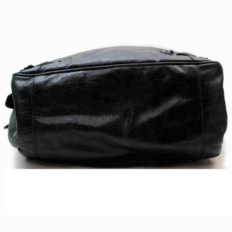Pre-loved authentic Balenciaga The Street Black Leather sale at jebwa