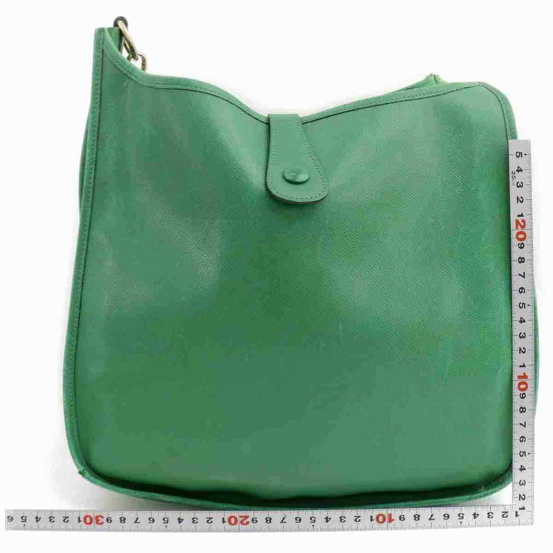 Pre-loved authentic Hermes Evelyne Crossvody Bag Green sale at jebwa