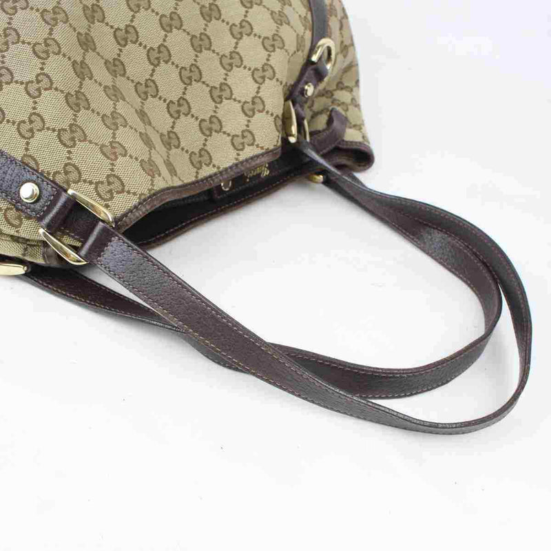 Pre-loved authentic Gucci Abbey Tote Bag Light Brown sale at jebwa