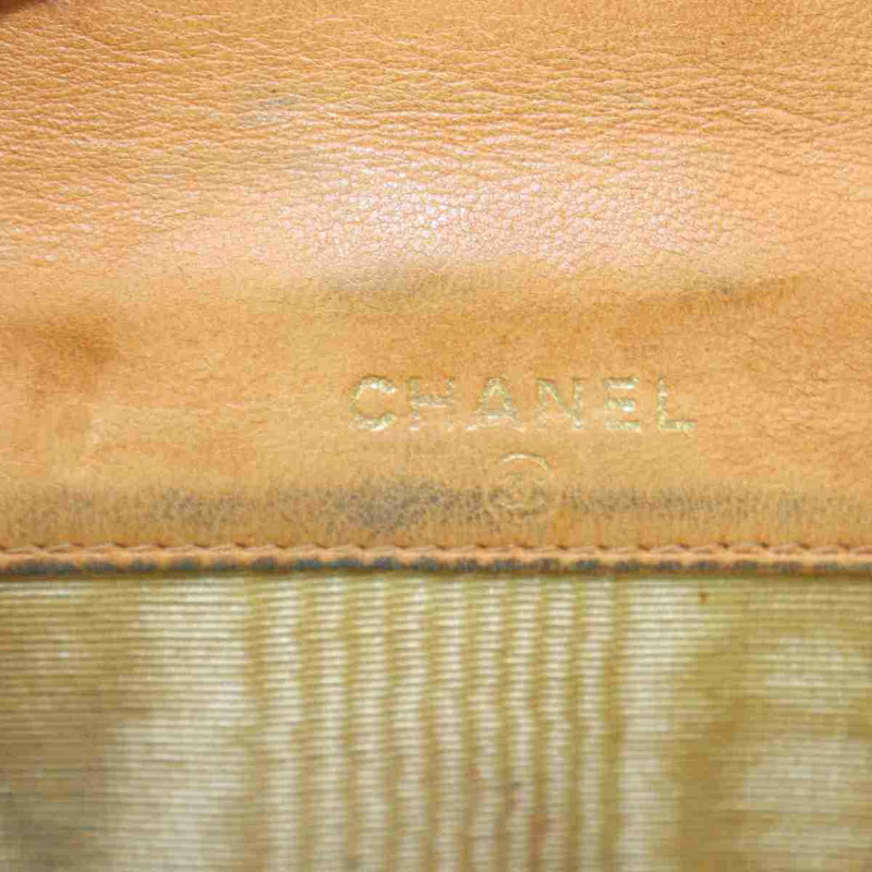 Pre-loved authentic Chanel Wallet Light Brown Leather sale at jebwa