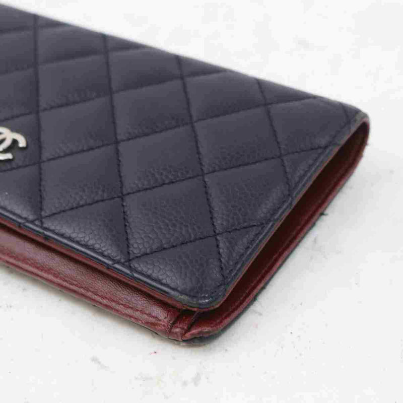 Pre-loved authentic Chanel Matelasse Long Wallet Black sale at jebwa