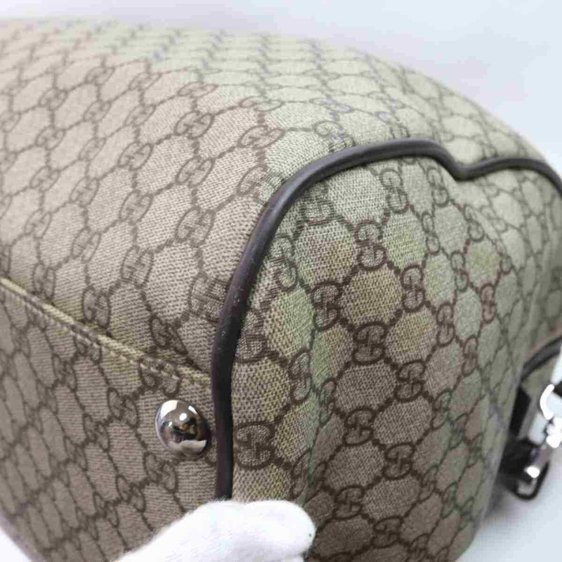 Pre-loved authentic Gucci Gg Travel Bag Beige Coated sale at jebwa