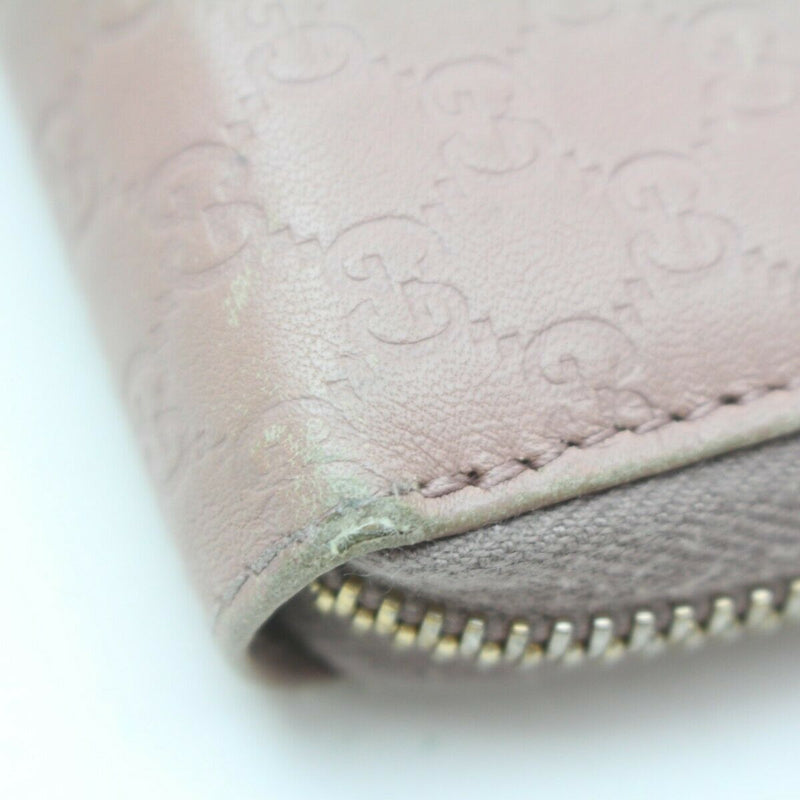 Pre-loved authentic Gucci Zippy Wallet Pink Leather sale at jebwa.
