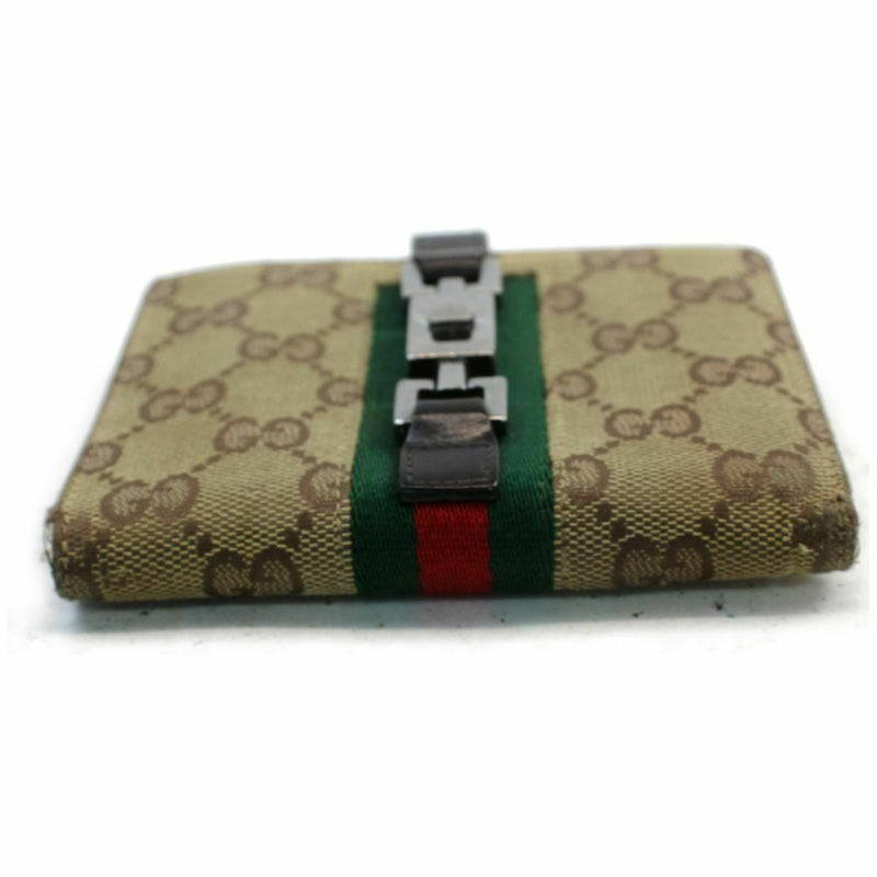 Pre-loved authentic Gucci Jackie Wallet Brown Canvas sale at jebwa.