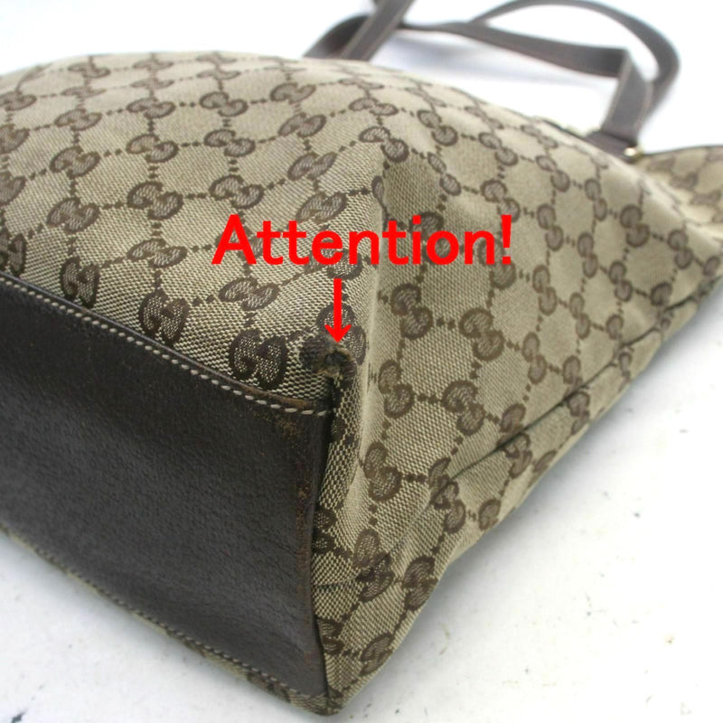 Pre-loved authentic Gucci Tote Bag Brown Canvas sale at jebwa.