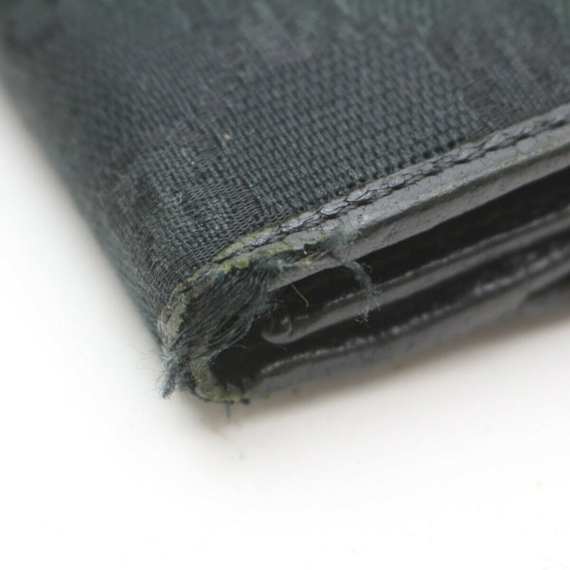 Pre-loved authentic Gucci Long Wallet Black Canvas sale at jebwa.