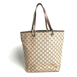 Gucci Gg Tote Bag Canvas Beige