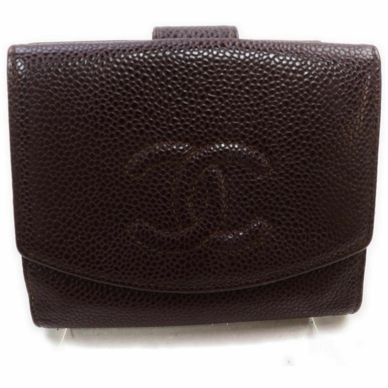 Chanel Wallet Brown Caviar Skin