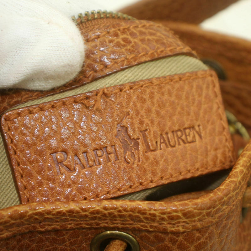 Pre-loved authentic Ralph Lauren Shoulder Bag Leather sale at jebwa.