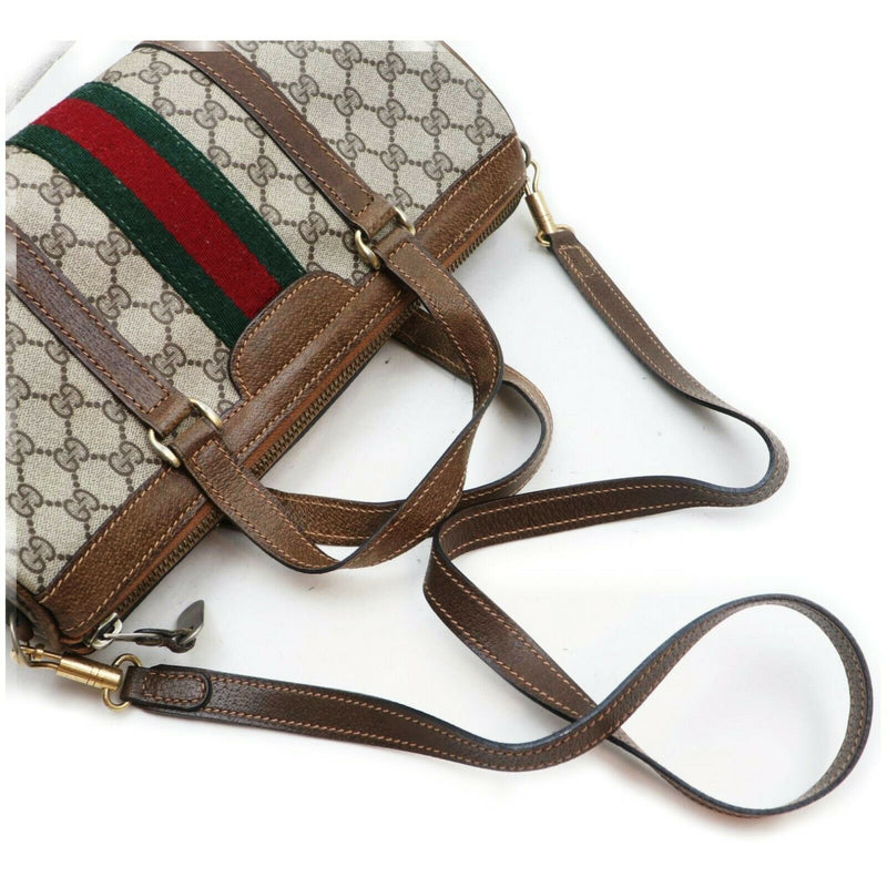 Pre-loved authentic Gucci Hand Bag Brown Coated Canvas sale at jebwa.