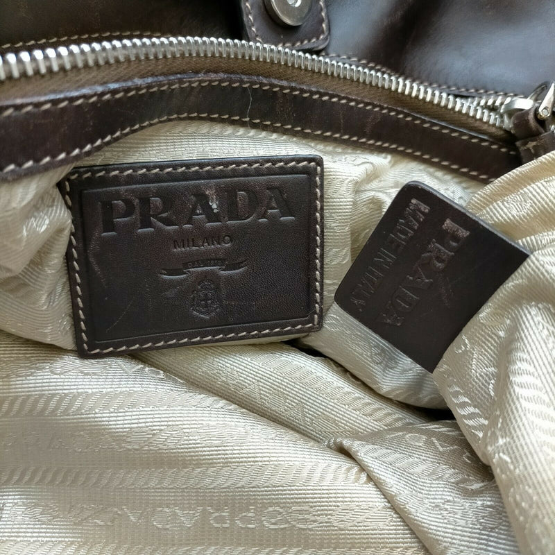 Prada Tote Bag Canvas Brown