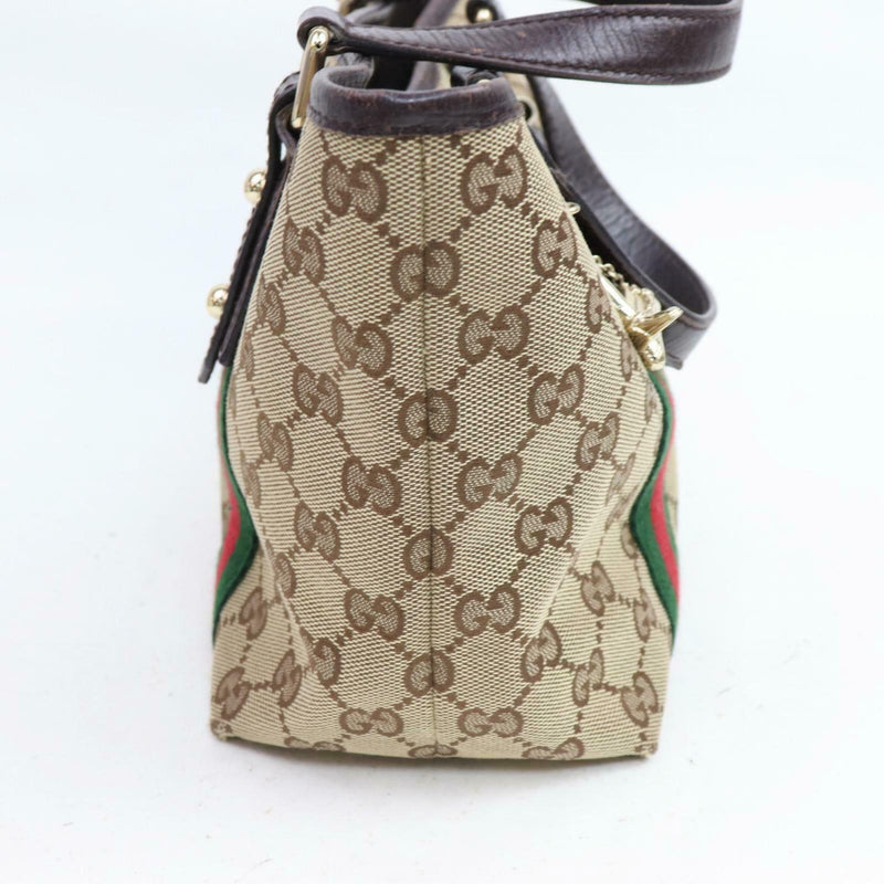Pre-loved authentic Gucci Light Brown Canvas Hand Bag sale at jebwa