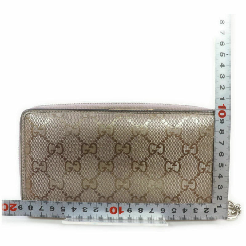 Gucci Zippy Wallet Gray Coated
